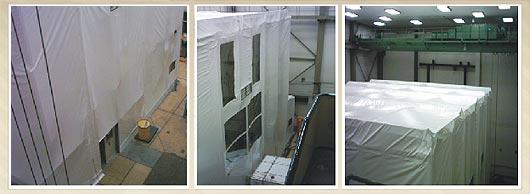 Trennwände & Einhausungen füür Bauprojekte, Industriehallen, Maschinen und Produktionsanlagen